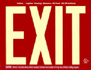Exit Sign Red